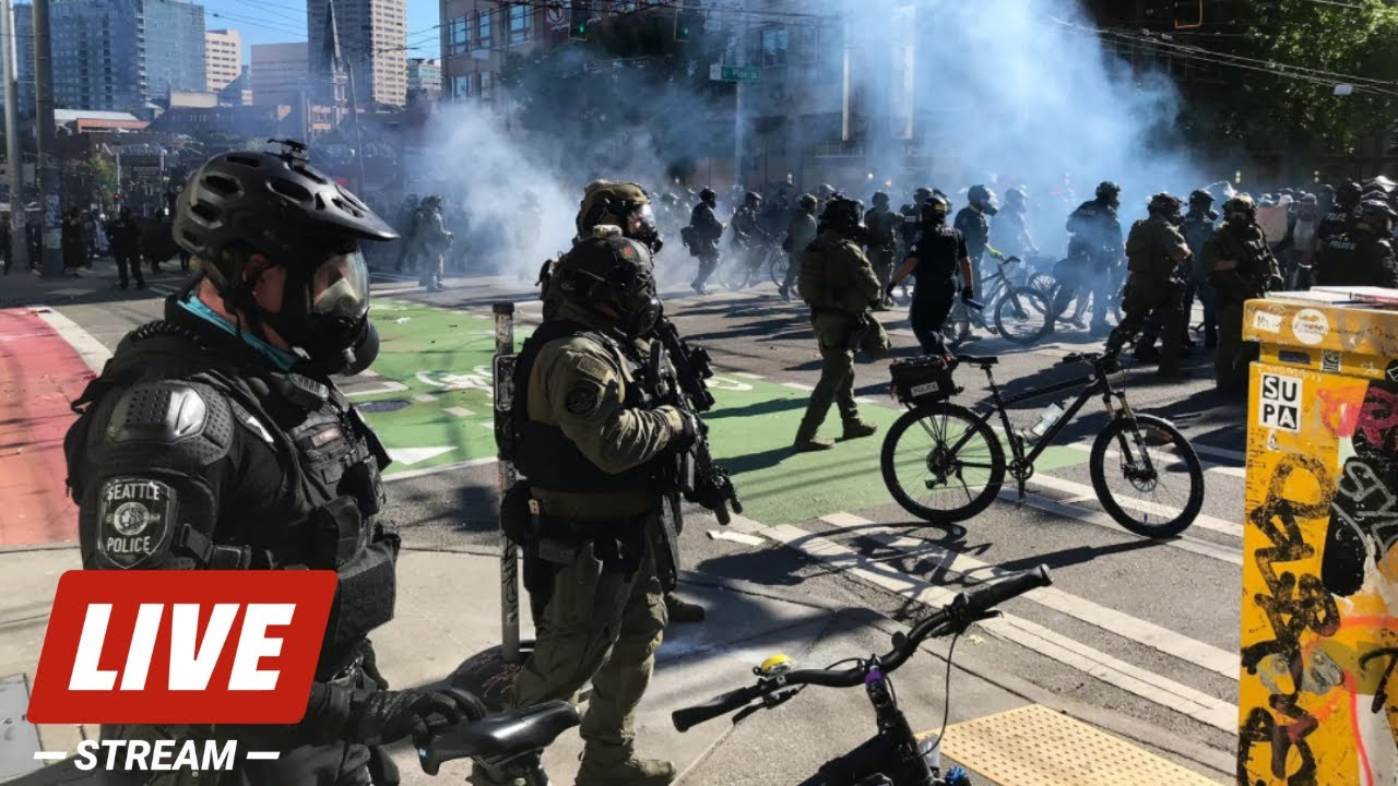 LIVE - Seattle Police Declare Riot After Protesters Set Fire to Construction Site