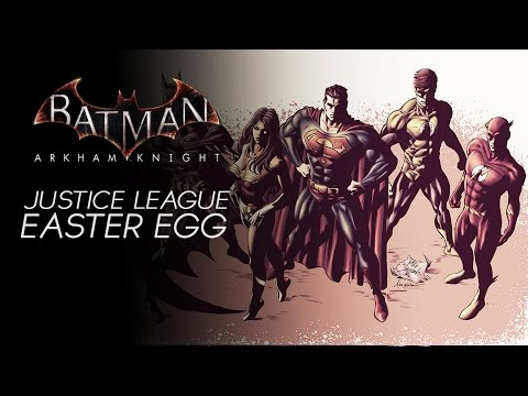 Batman Arkham Knight - Justice League Easter Eggs/Reference (Including Cyborg, Booster Gold & MORE)