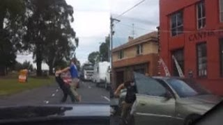 Violent road rage in Victoria Australia