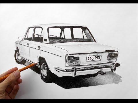 Как научиться рисовать карандашом машины