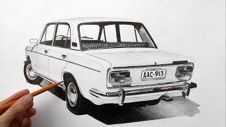 3д рисунок на бумаге ВАЗ 2103 (3D picture VAZ 2103)(Как нарисовать 3d рисунок автомобиля карандашом на бумаге - ускоренное видео, в котором вы сможете увидеть..., 2015-02-08T15:17:52.000Z)