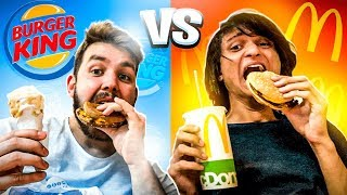 COMENDO só MC DONALDS vs BURGUER KING!! - desafio
