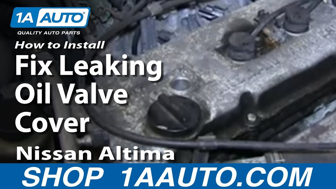 medium resolution of how to install change fix leaking oil valve cover gasket nissan altima 2 4l youtube