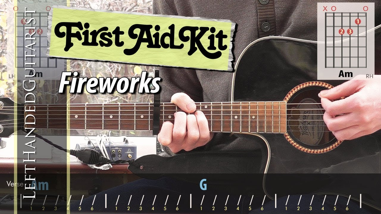 First Aid Kit Fireworks Guitar Lesson Youtube