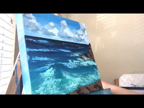 Easy Seascape Painting With Palette Knife Technique