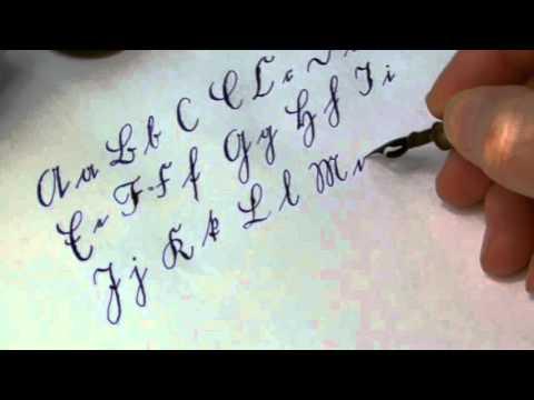 Alphabet in Sütterlin (Kalligraph Gosbert Stark)