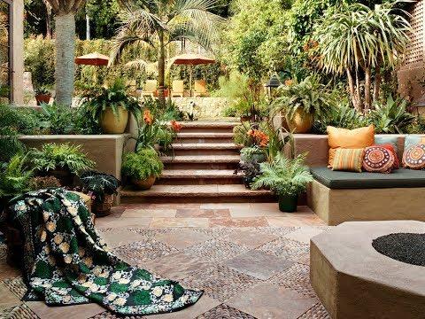 Красивые средиземноморские сады, креативные идеи