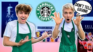 Opening My Own STARBUCKS At HOME **FUNNY CHALLENGE** |  ft. Stephen Sharer