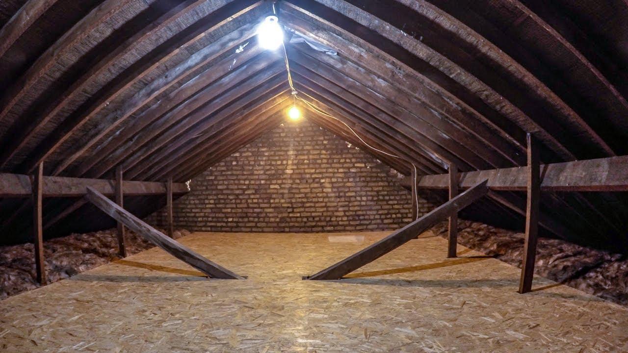 Installing attic floor over insulation