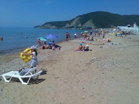 Лермонтово 2019 Центральный пляж. Обзор с ценами