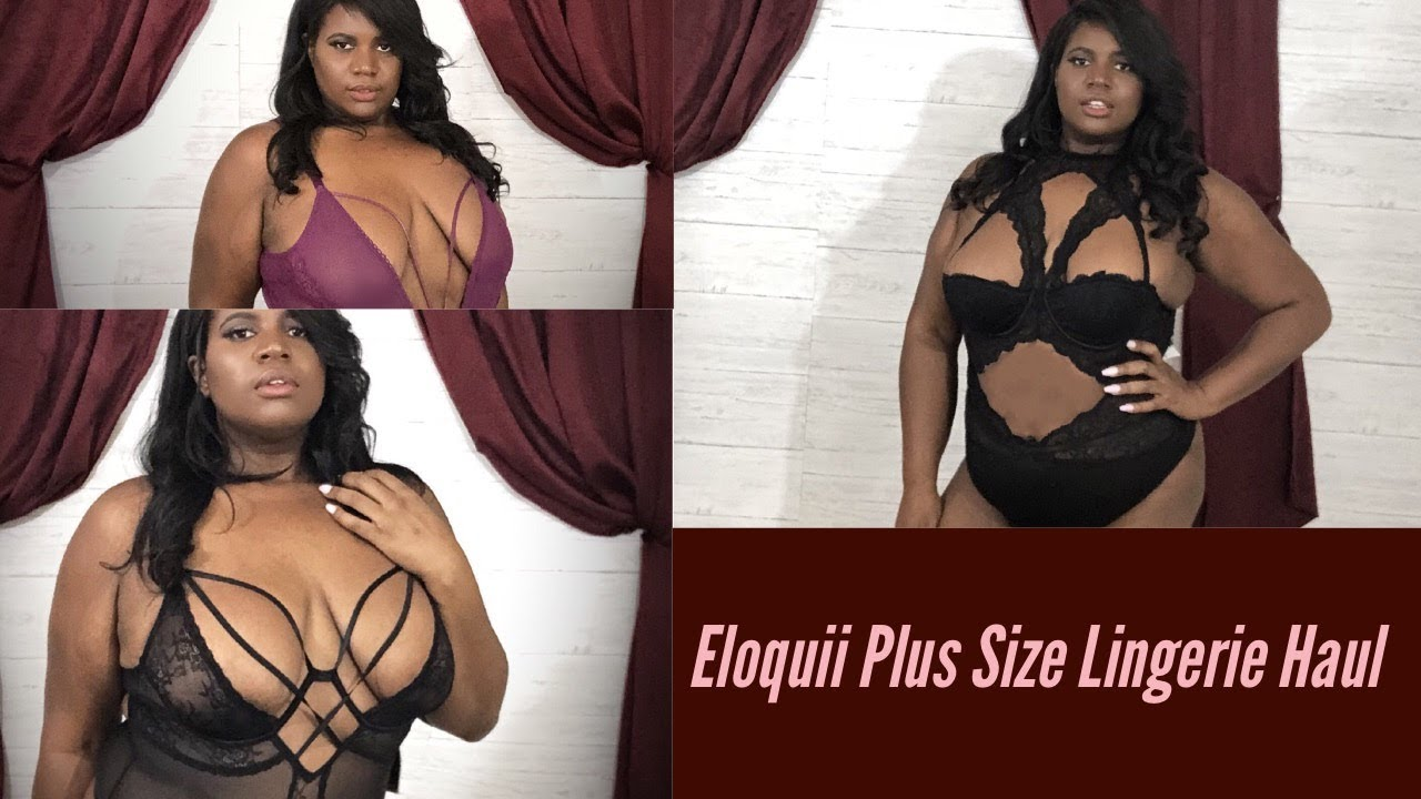 ebd20120731f Plus Size Fashion Haul x Eloquii Lingerie Edition 2018 - YouTube
