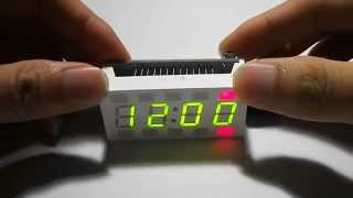 Creative Simple 4-digit Diy Digital Led Clock Kit White Desktop Electronic Mini-clock