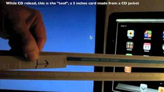 How to eject a CD stuck in an iMac superdrive with a small card
