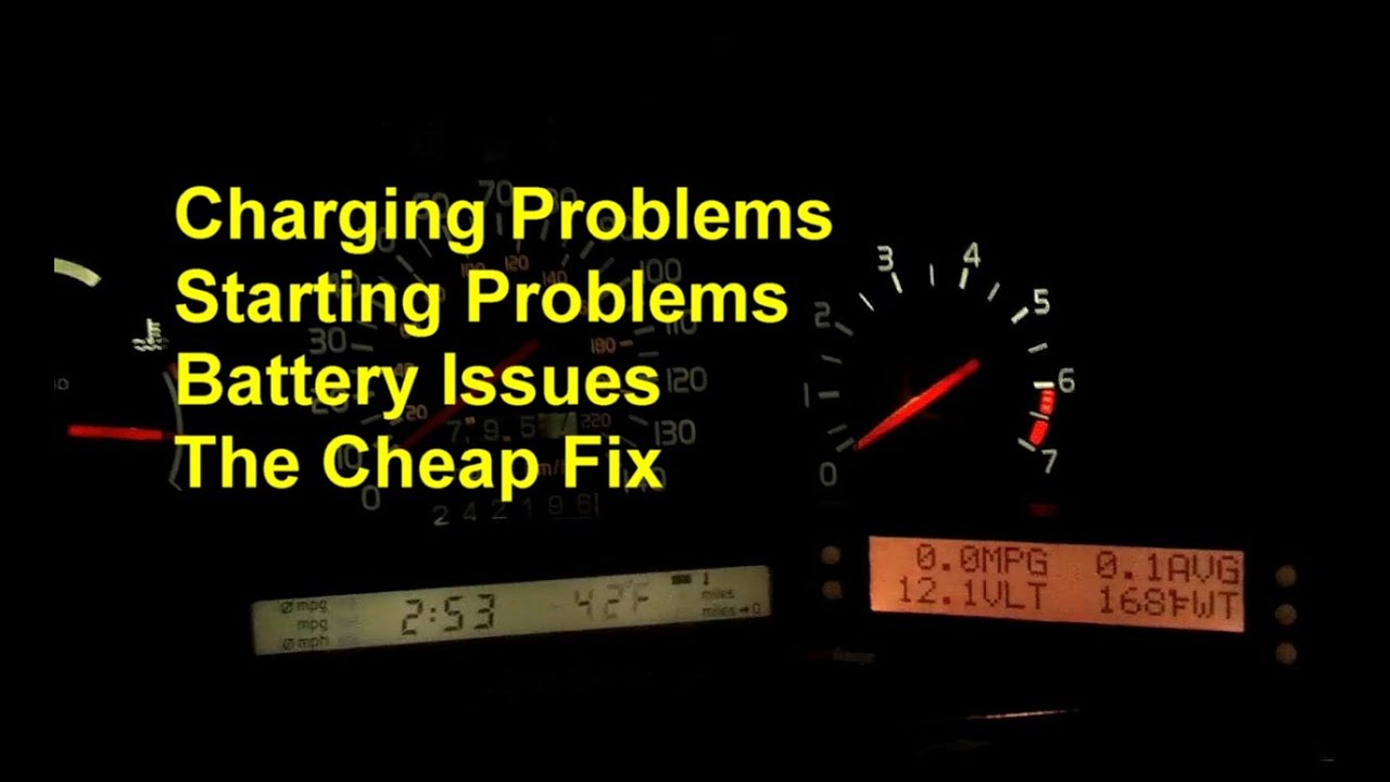 Starting Or Charging Issues May Be A Bad Battery Cable Or