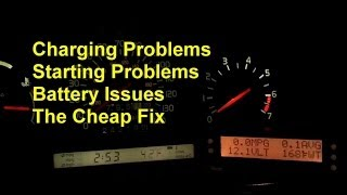 Starting or charging issues, may be a bad battery cable or connection - Auto Repair Series