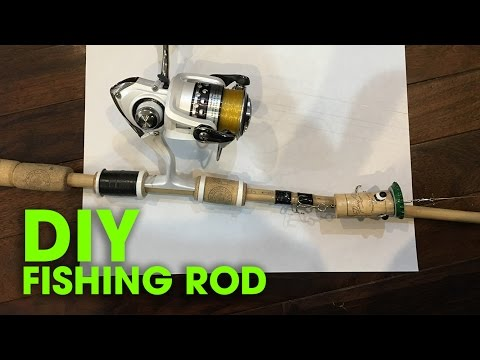 Fishing Tools - Fishing Tips - How To Make a DIY Fishing ROD - Cách Làm Cần Câu Máy