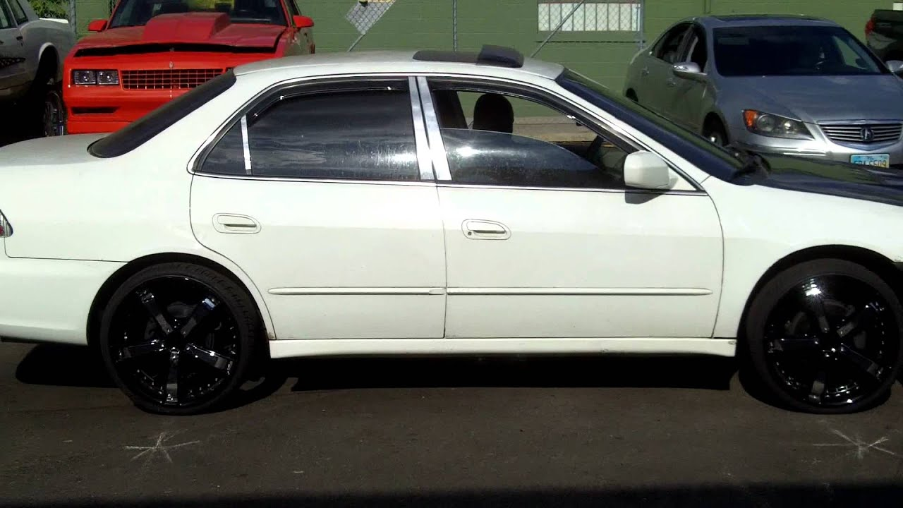 Accord With Air Ride On 20s Youtube