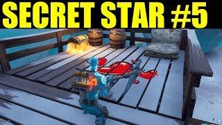 Find the secret Battle star in Loading Screen #5 Fortnite Hidden battlestar location week 5 season 7
