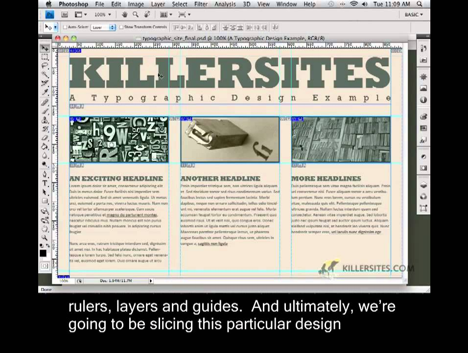 Photoshop for the Web Closed Captioned – Intro