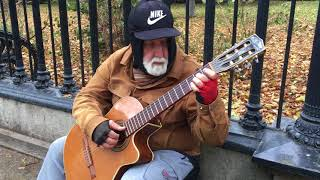 """Street guitarist plays the soundtrack from """"The Mission"""""""