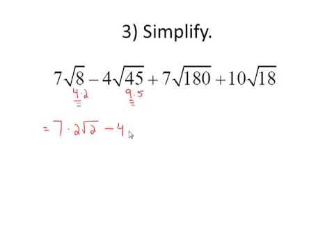 Adding and Subtracting Radicals - YouTube