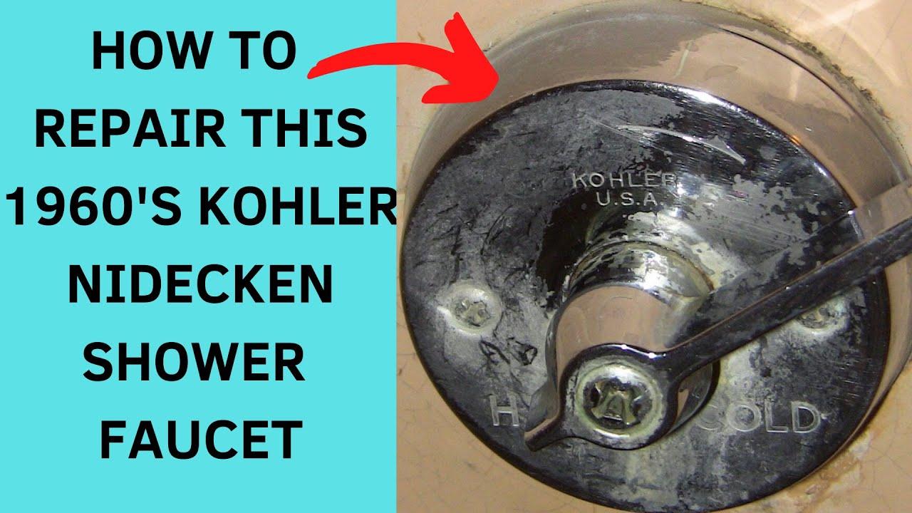 how to rebuild a kohler nidecken shower faucet