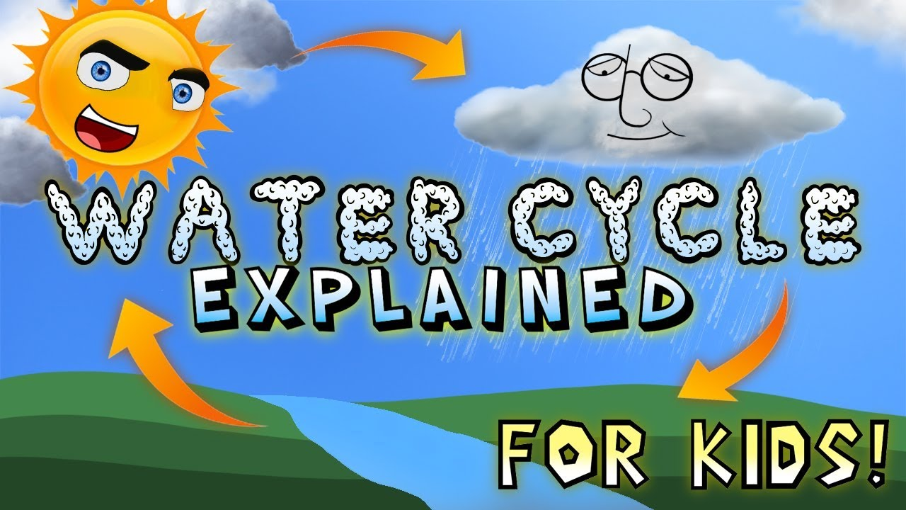 medium resolution of Water Cycle Explained for Kids! - YouTube