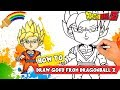 How to draw Goku drawing and coloring | How to drawing cartoon characters Dragon ball z goku