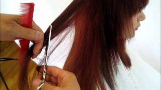 How to cut hair - long hair cut inside out step by step  #2 tutorial demonstration video