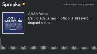 L'aiuto agli italiani in difficoltà all'estero. I rimpatri sanitari