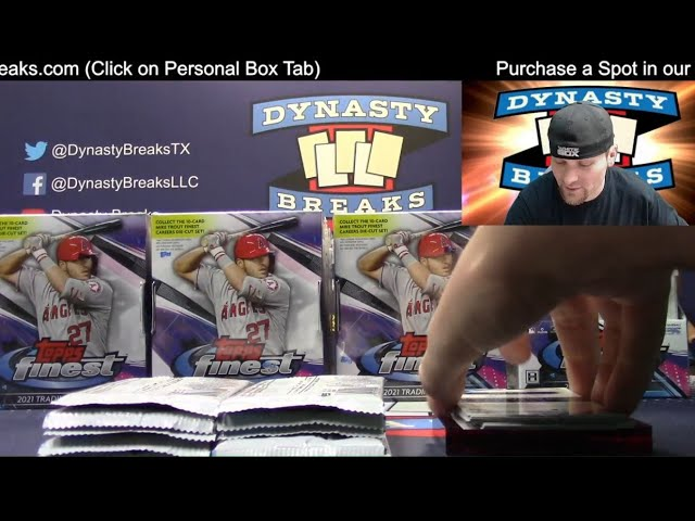 2021 Topps Finest Baseball Card 8 Box Case Break #4   Sports Cards