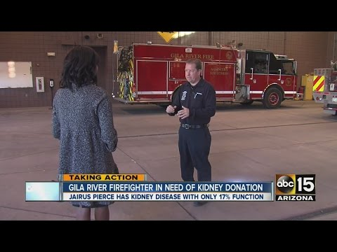 Ariz. firefighter searching for kidney donor
