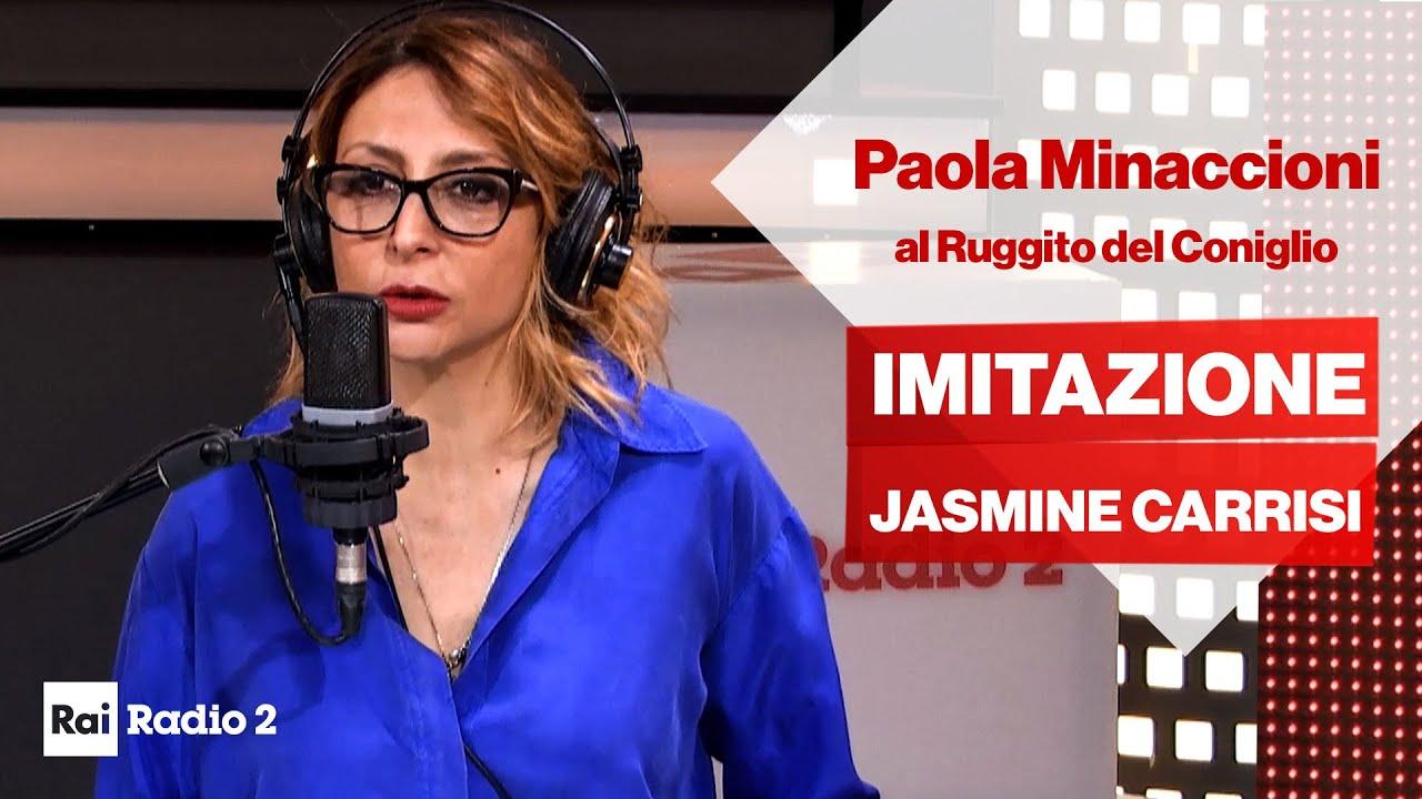 Paola Minaccioni imita Jasmine Carrisi al Ruggito del Coniglio - YouTube