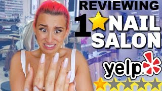 Going To The WORST Reviewed NAIL SALON In My City! *1 STAR*