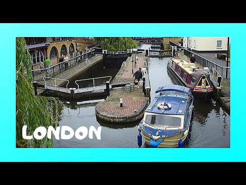 LONDON: Inside an empty LOCK at REGENT'S CANAL at CAMDEN LOC