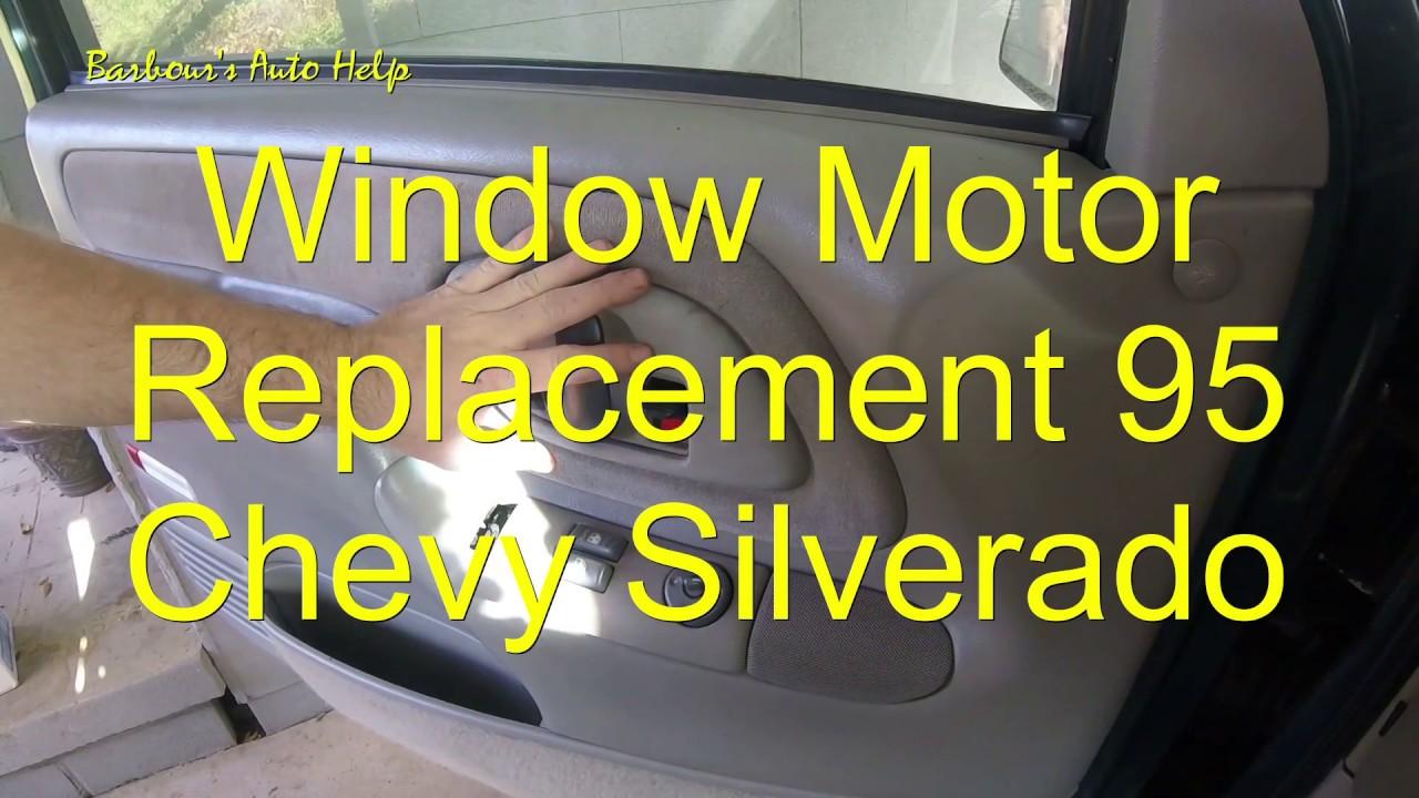 Window Motor Replacement 95 Chevy Silverado Youtube