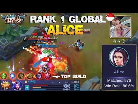 Thumbnail: Top Rank 1 Global Alice (ᵈʸᵈʸ欣) Teach You How to Play Like a Pro - Mobile Legends Top Player
