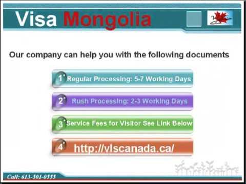 Visa for Visiting Mongolia Canada - 613-501-0555