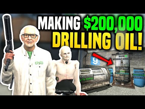 I MADE $200,000 FROM DRILLING OIL - Gmod DarkRP | Oil Refining Business!
