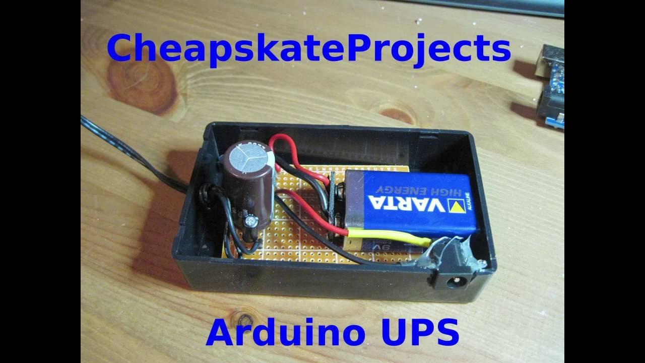 Arduino UPS: Battery based backup power