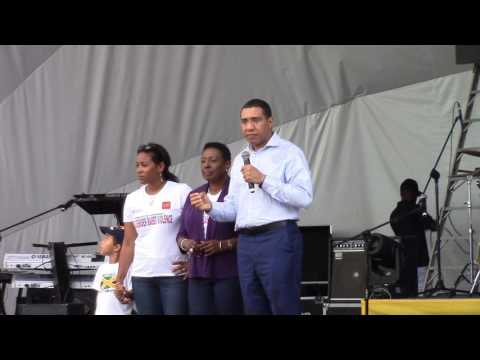 Prime Minister Andrew Holness of Jamaica supporting the fight against gender-based violence