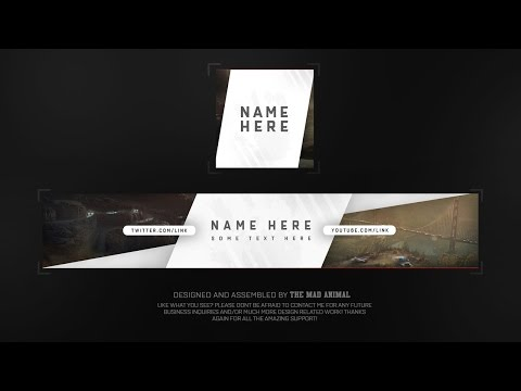 Free Youtube Banner & Avatar Revamp/Rebrand Template # 4 - PSD - FREE DOWNLOAD