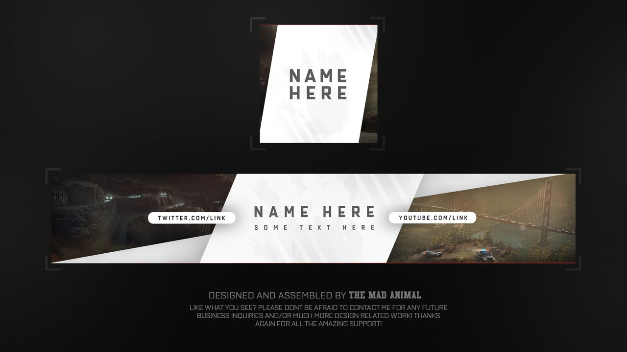 YOUTUBE BANNER TEMPLATE PHOTOSHOP DOWNLOAD