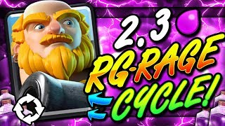 FASTEST ROYAL GIANT + RAGE DECK EVER!! 2.3 CYCLE!! THIS IS INSANE!