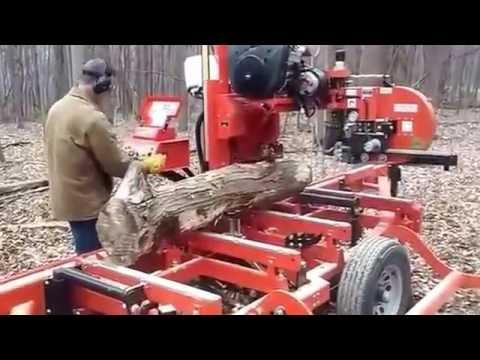 Wood-Mizer LT40 Hydraulic First Run at Primal Woods