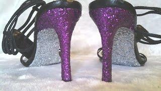 Easy DIY Glitter High Heel Shoes-The Correct Way-Prom,Weddings,Halloween