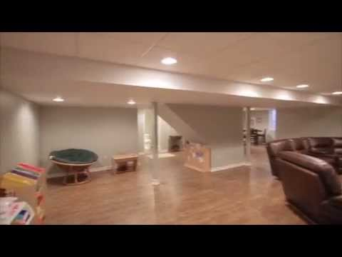 Walkthrough of a Finished Basement in Commerce Township, MI