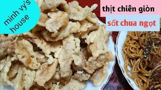 #42 cách làm thịt chiên giòn sốt chua ngọt - thịt chiên chua ngọt hàn quốc - 탕수육