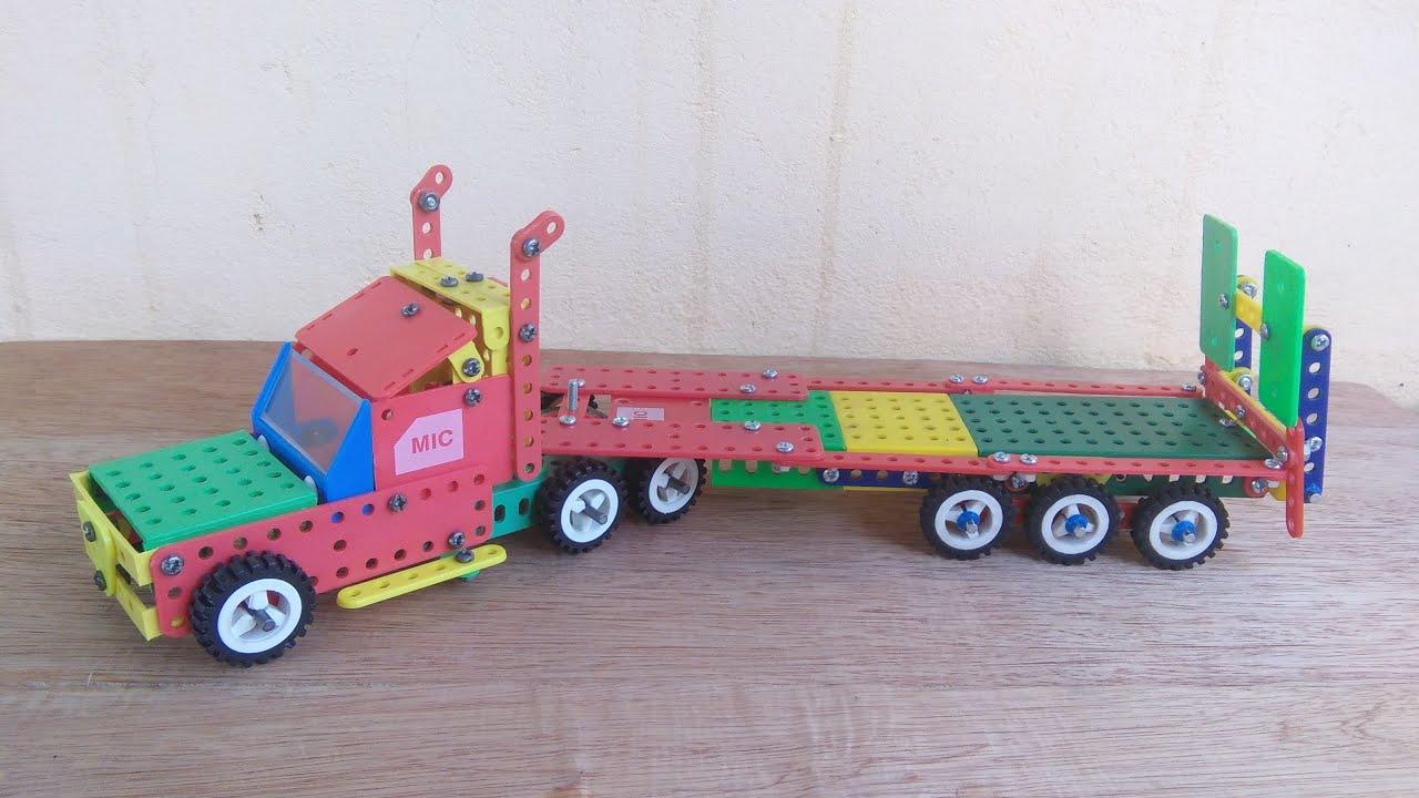 Hướng dẫn lắp xe Container V3 từ bộ lắp ghép mô hình kĩ thuật lớp 5.