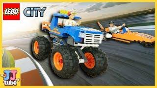 제빠와 서준이의 몬스터 트럭 과 로켓자동차 경주!! 레고 시티 장난감 상황극 놀이 LEGO City Monster Truck Toys & Play [제이제이 튜브-JJ tube]